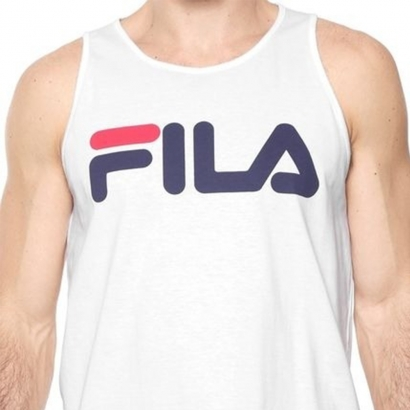 Fila Mens Letter Basic Tank Top Άσπρο