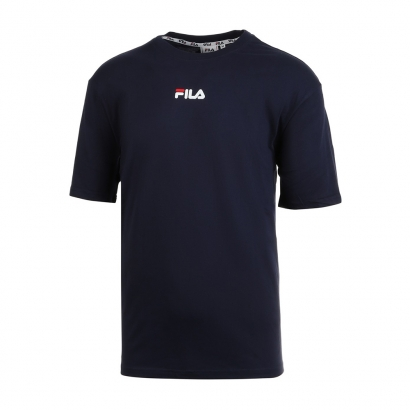 Fila Mens Bender T-Shirt Μπλε Σκούρο